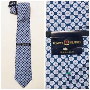 NWT Tommy Hilfiger 100% silk preppy two tone tie